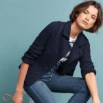 anthropologie tweed jacket