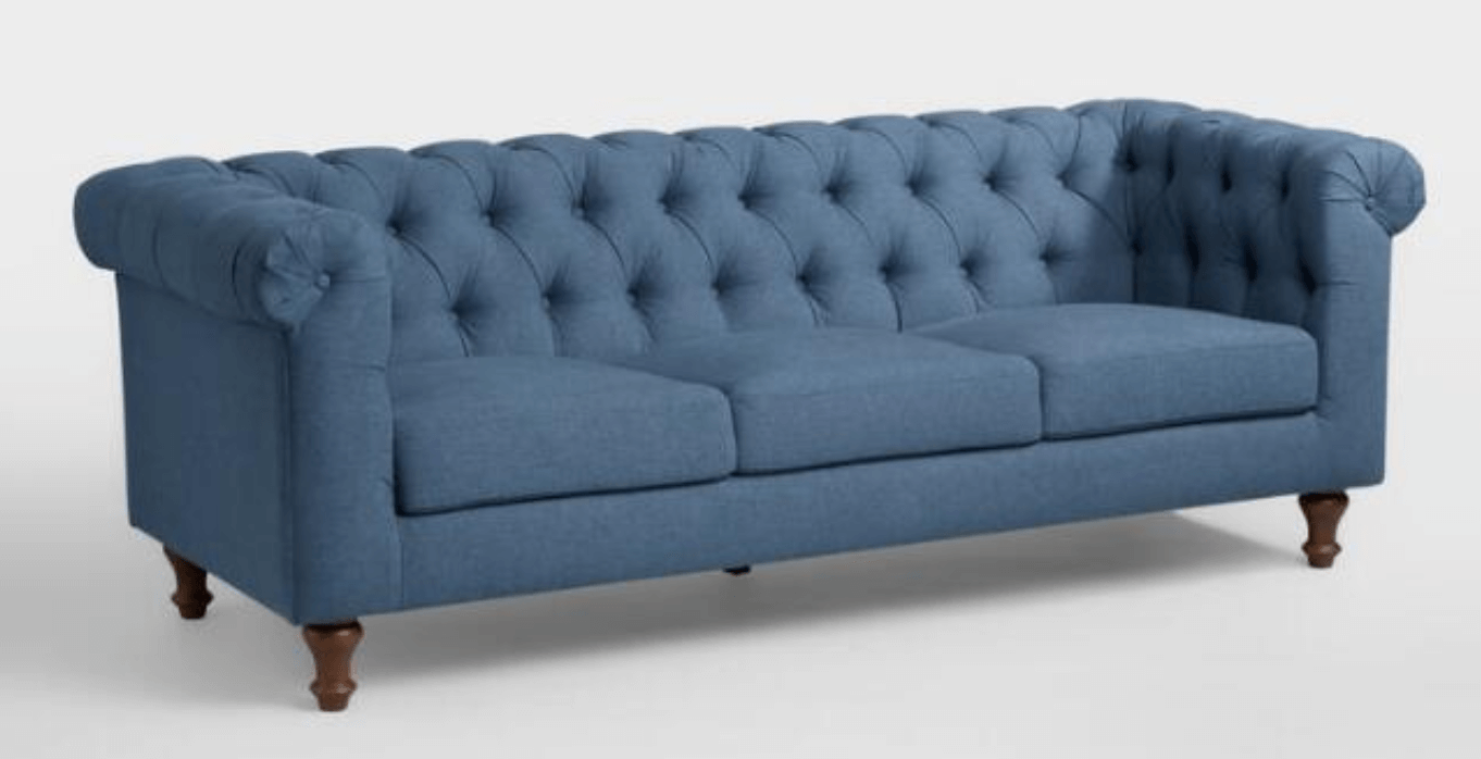 Denim Blue Quentin Chesterfield Sofa