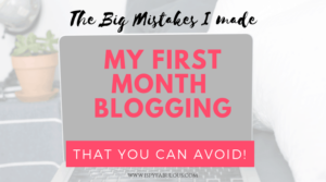 My blogging mistakes, tips for bloggers, and time wasters avoid.