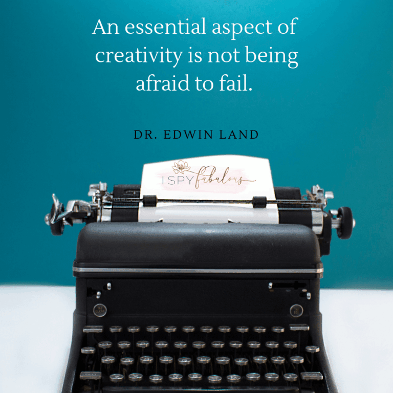 An essential aspect of creativity is not beingafraid to fail.