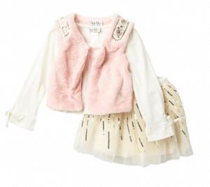 nicole-miller-faux-fur-vest-set