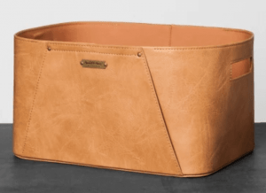 hearth-and-hand-leather-basket