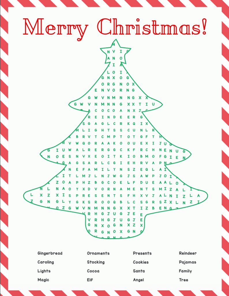 Free Christmas Word Search Printable For Kids I Spy Fabulous
