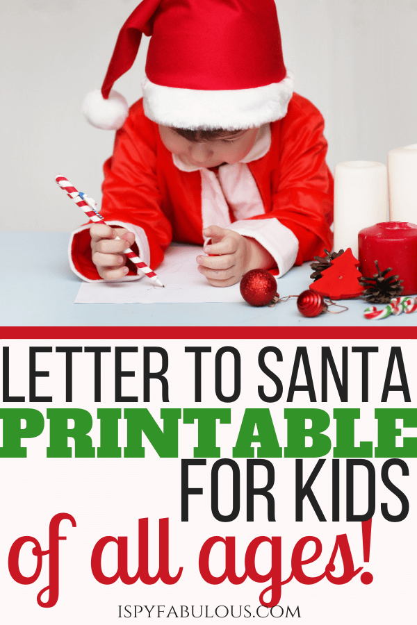 2 Dear Santa Letter Printables For Kids Of All Ages Free