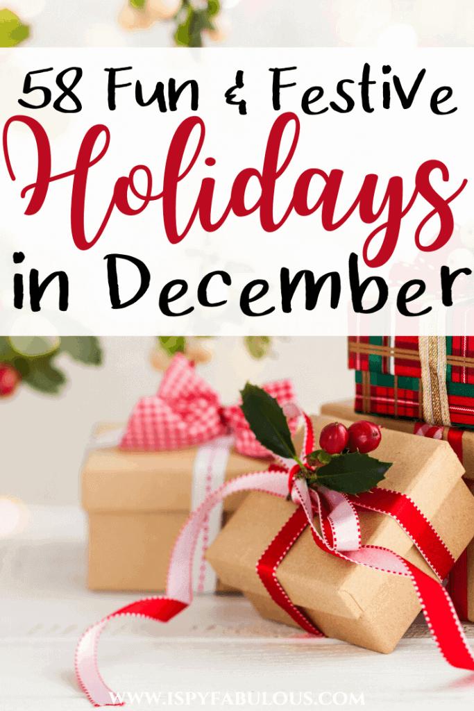 holidays in december