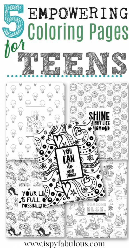 teen coloring pages