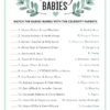 celebrity baby name baby shower game