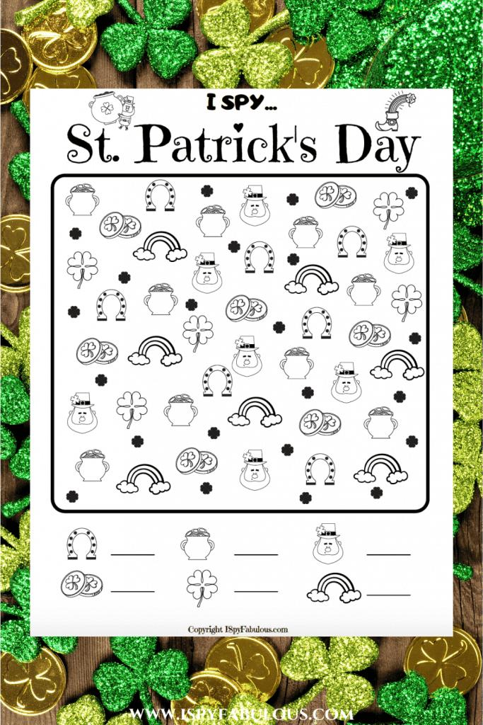 st. patrick's day i spy printable