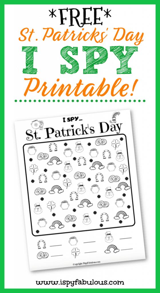 free st. patrick's day i spy printable