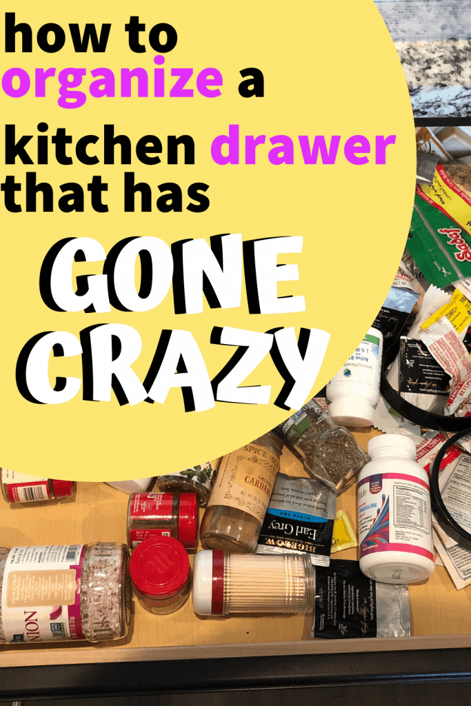 how to organize a kitchen drawer