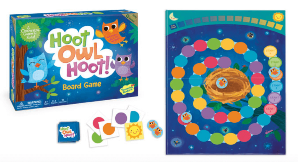 best board games for young kids, hoot owl hoot