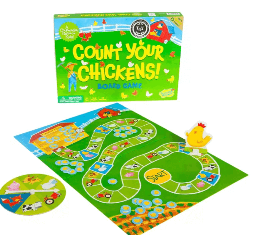 best board games for young kids, count your chickens