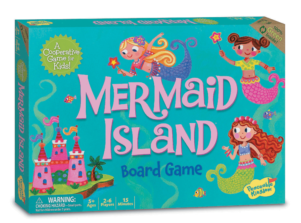best board games for young kids, mermaid island