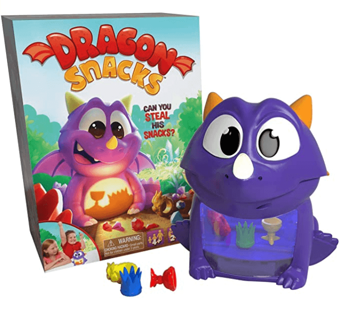 best board games for young kids, dragon snacks