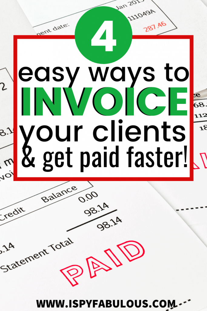 how to invoice