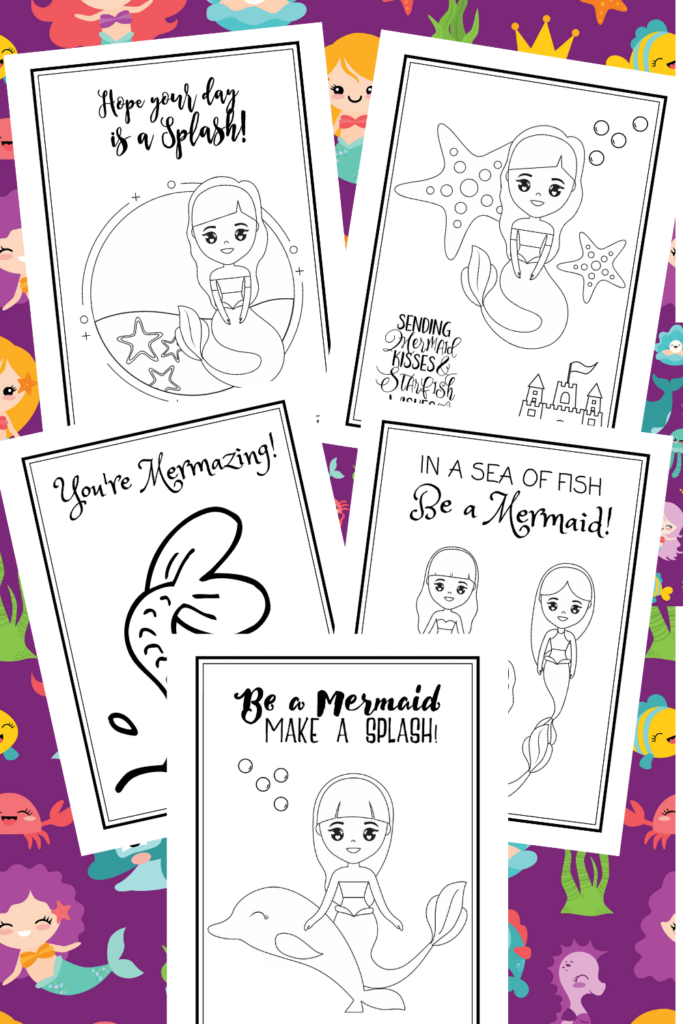 mermaid coloring pages