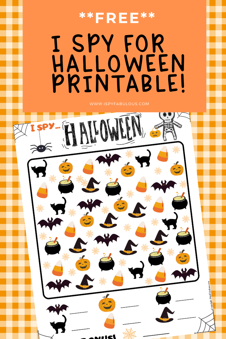 free i spy halloween printable