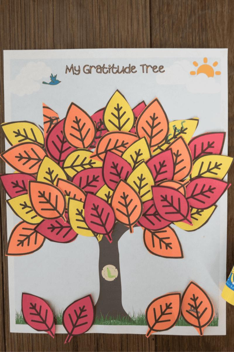 Free Gratitude Tree Printable Activity for Kids!