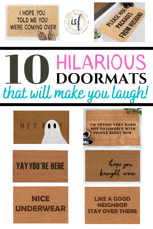 funny doormats