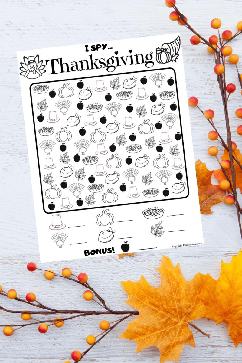 Free & Festive I Spy Thanksgiving Printable!