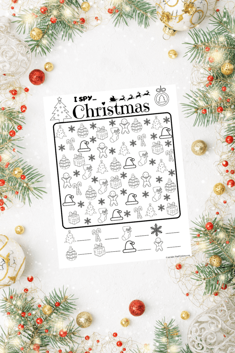 Free I Spy Christmas Printable for Kids!