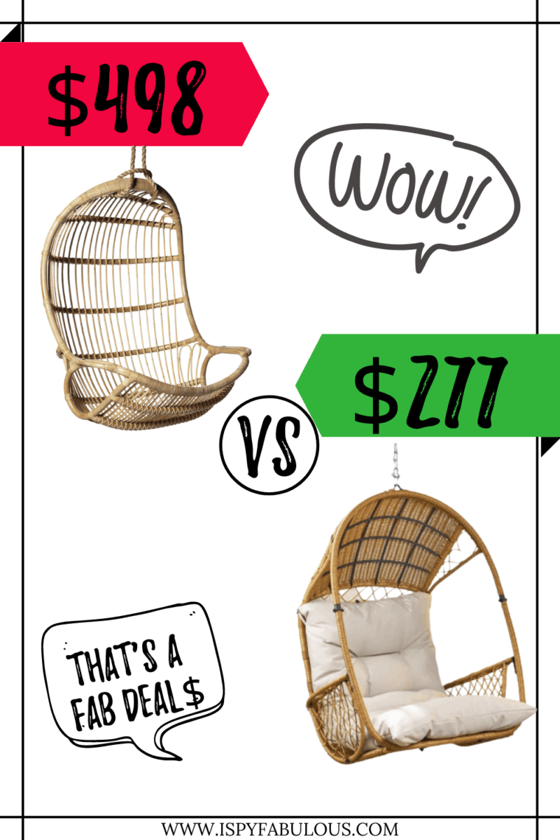 Fab Deal$: Serena & Lily's Hanging Rattan Chair Lookalike!
