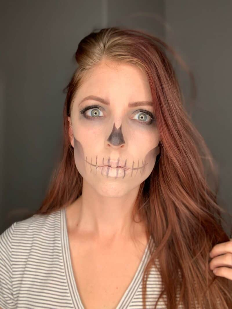 An Easy Skeleton Makeup Tutorial With Real Makeup