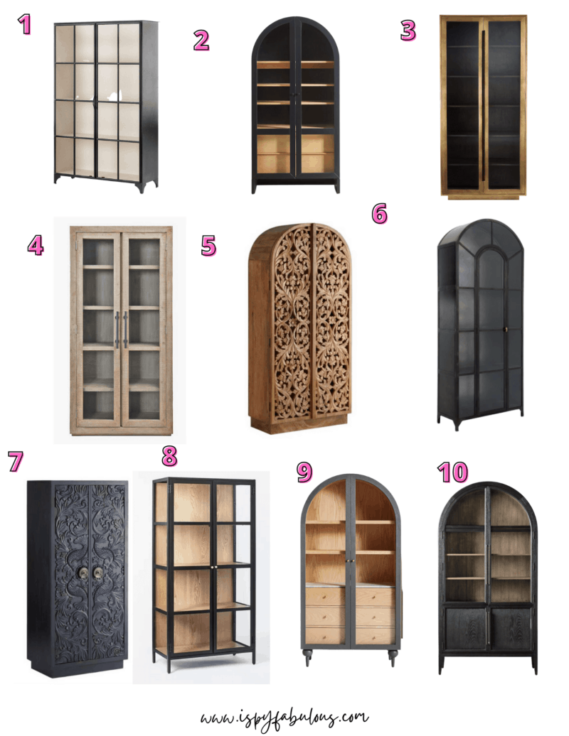 10 Gorgeous Cabinets For Every Home Starting at $500!