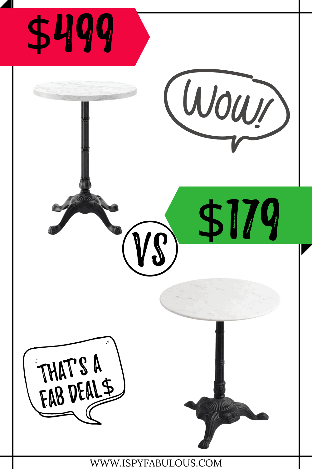 pottery barn marble table dupe