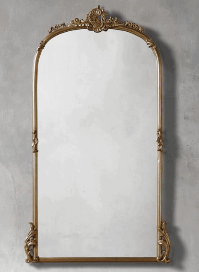 anthropologie primrose gold mirror dupe