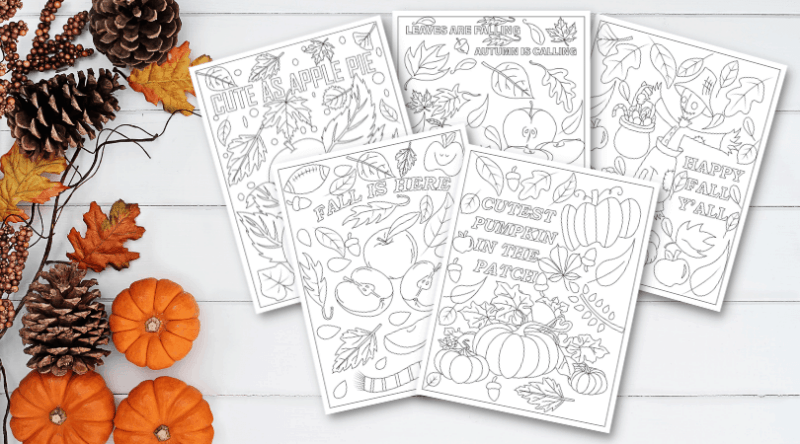 5 Free Fall Coloring Pages To Celebrate The Changing Seasons