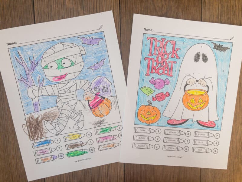 10 Spooktacular Halloween Color By Number Printables