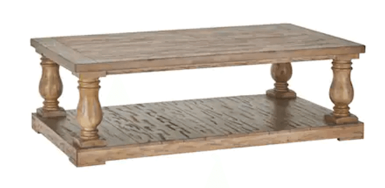 restoration hardware balustrade coffee table dupes