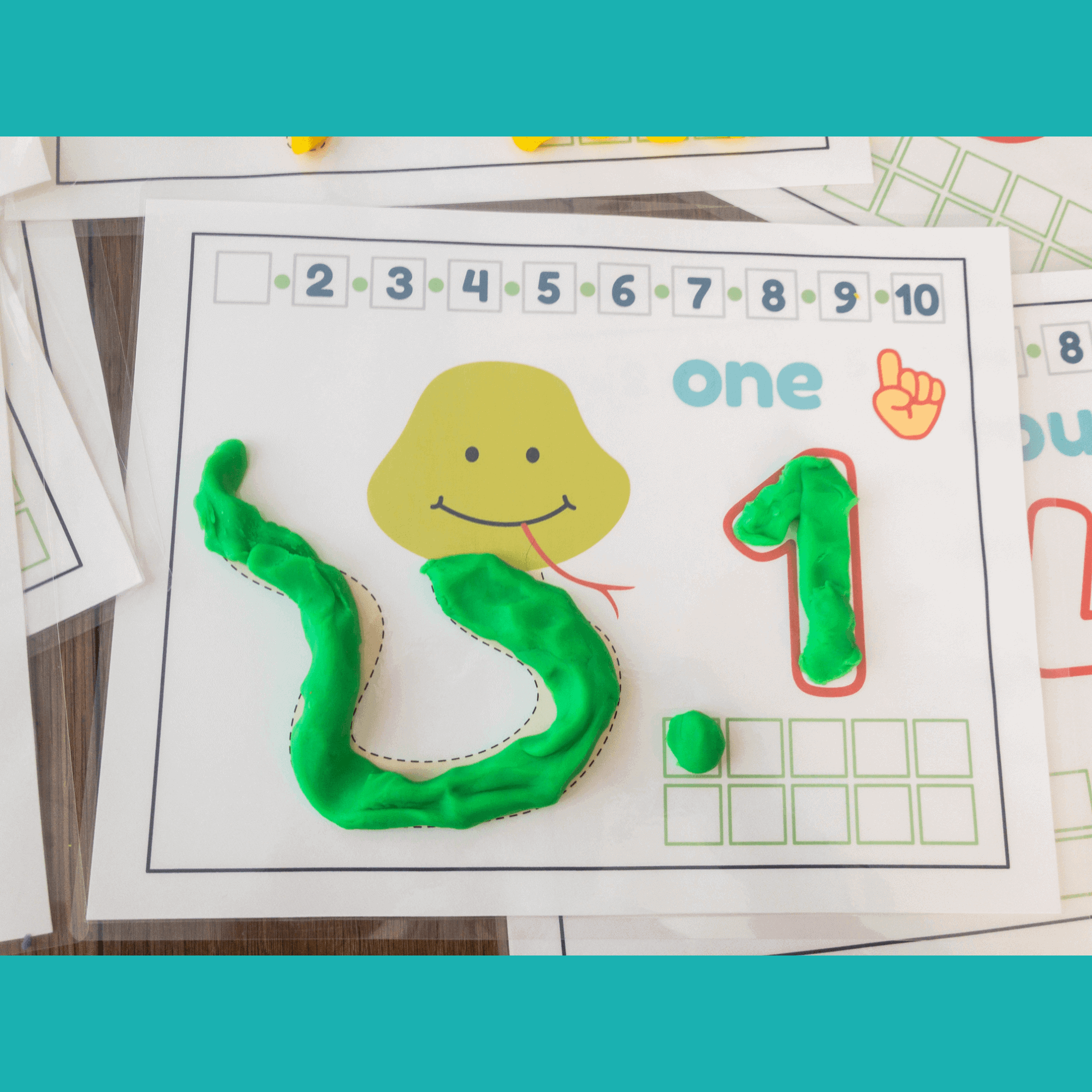 number activities and play-dough mats